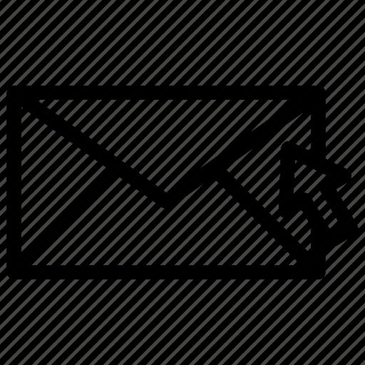 envelope, internet message, letter, online mail, vintage mail icon
