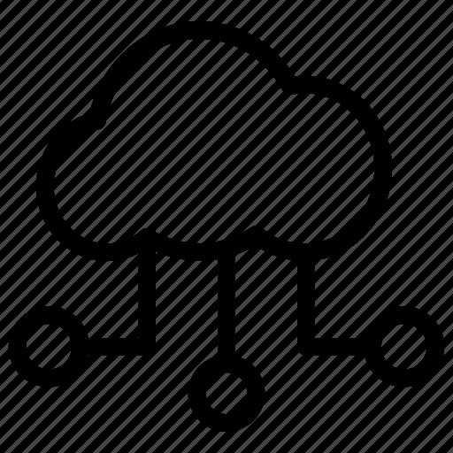 cloud computing, cloud data, cloud data sharing, cloud hosting, cloud network, wireless technology icon