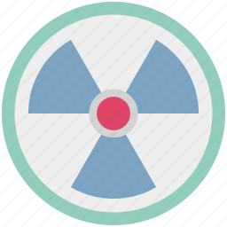 danger, nuclear, radiation, radioactivity, risk, toxic, warning sign icon