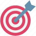 aim, bullseye, dart, dartboard, shooting, success, target icon