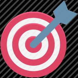 aim, bullseye, dart, dartboard, shooting, success, target icon