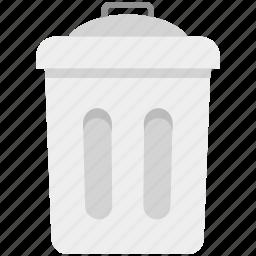 dustbin, garbage can, recycle bin, rubbish bin, trash barrel, trash bin, trash can icon