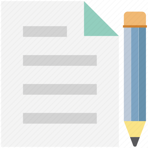 article, compose, document, handwriting, paper, pencil, writing icon
