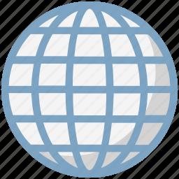 earth, earth grid, globe, internet grid, map, planet, world map icon