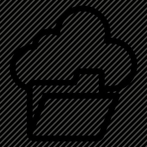 cloud computing, cloud data, cloud folder, cloud hosting, cloud information icon
