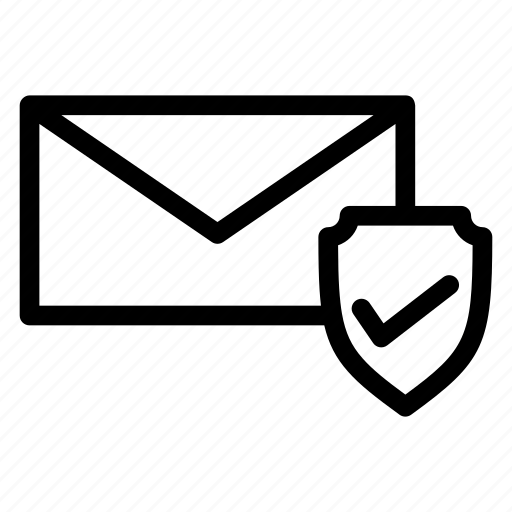 business document, business message, secured email, secured message, verified mail icon