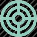 aim, bullseye, dartboard, goal, shooting, shooting dart, target icon