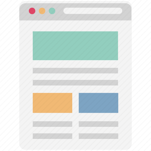 web content, web layout, web page, webpage, website layout, website view, wireframe icon