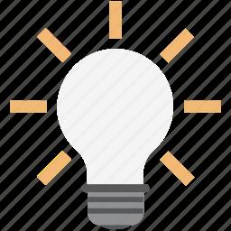 bulb, bulb on, creativity, idea, innovation, invention, lightbulb icon