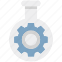 cog, cogwheel, engineering, flask, gearwheel, mechanism, repair icon