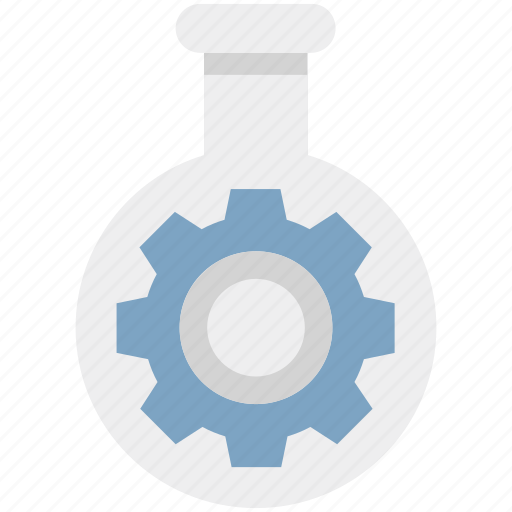 cog, cogwheel, engineering, flask, gearwheel, mechanism, repair icon