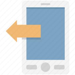 call, incoming, incoming call, mobile, mobile arrow, mobile call icon