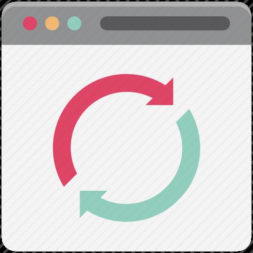 clockwise, refresh web, reload web, timer, web alert, webpage, website icon