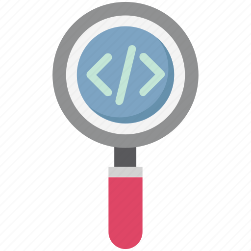 magnifying, magnifying glass, search div, search programming, searching, web programing icon