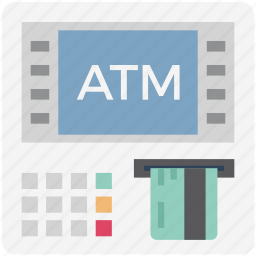 atm, automated teller machine, cashline, cashpoint, payment machine, payment method icon