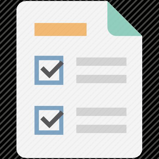 agenda, checklist, checkmark list, list, report list, task list, todo icon