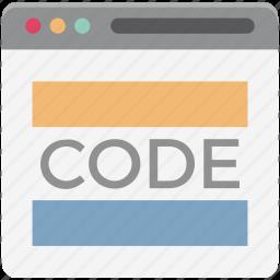 div, div coding, html, html coding, html language, source code, web development icon