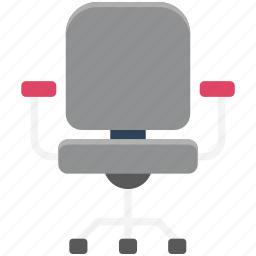 chair, furniture, moving chair, office chair, revolving chair, seat, swivel chair icon