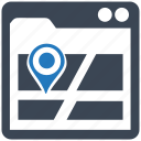 maps, seo pack, seo services, seo tools, social media, web designer, web marketing icon
