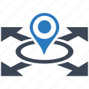 location, seo, seo pack, seo services, seo tools, social media, web designer icon