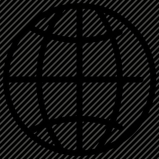 global, globe, network icon