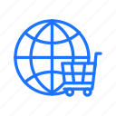 global, marketplace, online, shopping icon