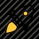 launch, rocket, spaceship, startup