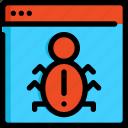 bug, coding, development, programming, seo, web, website icon