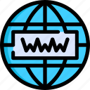 development, domain, hosting, seo, web, website, www icon