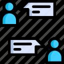 chat, communication, development, interaction, seo, web, website icon