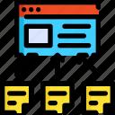 content, development, link, page, seo, web, website icon