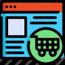 development, interface, seo, shopping, ui, web, website icon