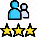 customer, feedback, rating, review, star, support, website icon