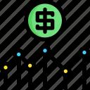 analysis, analytic, development, money, seo, web, website icon