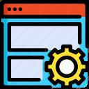 development, interface, internet, seo, ui, web, website icon