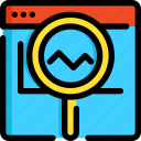 analytic, development, optimization, search, seo, web, website icon