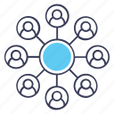affiliate marketing, business network, personal connection, user connection, user network icon