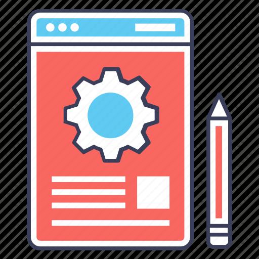 graphic tools, seo technology, web design, web setting, web tools icon