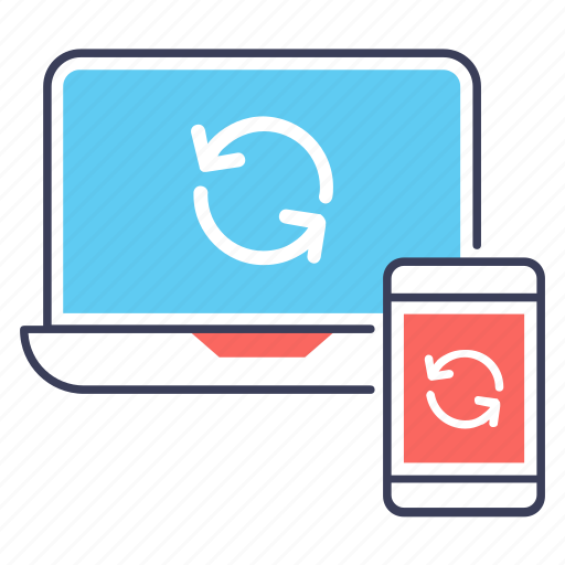 data exchange, data sharing, data synchronization, data syncing, data transfer icon