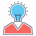 big idea, bright idea, creative idea, innovative idea, new idea icon