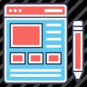 adaptive interface, custom content, ui, user interface, web content, web layout icon