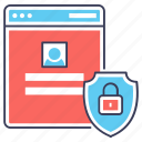 browser lock, web lock, web security, website lock, website protected icon