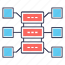 big data, data center, data storage, dataserver, storage server icon