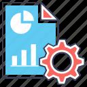 data adjustment, data management, data processing, data setting, database configuration icon