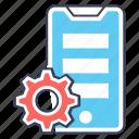 app configuration, app development, app management, mobile maintenance, mobile setting icon