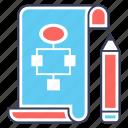 algorithm, diagram, flowchart, plan model, planning icon