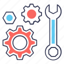 configuration, mechanical tools, repairing tools, setting, wrench icon