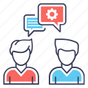 communication, consulting, conversation, forum discussion, meeting icon