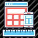 adaptive design, app design, responsive design, web design, web development icon