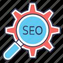 options, search, seo, seo analyzing, seo lupe, seo searching, seo target icon